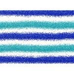 Metallic Blue Glitter Stripes Peace Sign 3D Greeting Card (7x5) Back