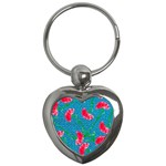 Carnations Key Chains (Heart)  Front