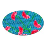 Carnations Oval Magnet Front