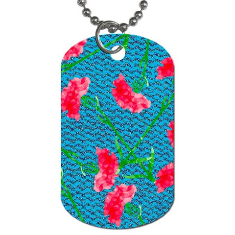 Carnations Dog Tag (One Side)