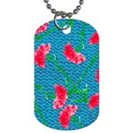 Carnations Dog Tag (Two Sides) Back