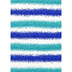 Metallic Blue Glitter Stripes Get Well 3D Greeting Card (7x5) Inside