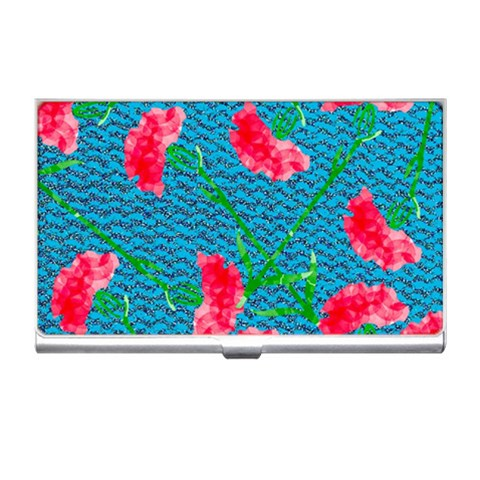 Carnations Business Card Holders