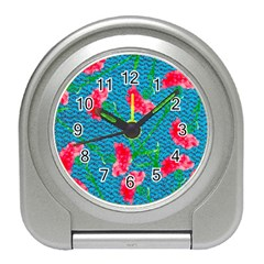 Carnations Travel Alarm Clocks