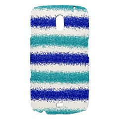 Metallic Blue Glitter Stripes Samsung Galaxy Nexus i9250 Hardshell Case