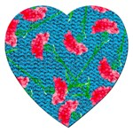 Carnations Jigsaw Puzzle (Heart) Front