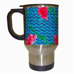 Carnations Travel Mugs (White)