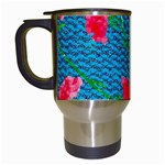 Carnations Travel Mugs (White) Left