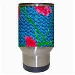 Carnations Travel Mugs (White) Center
