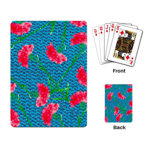Carnations Playing Card