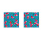 Carnations Cufflinks (Square) Front