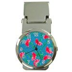 Carnations Money Clip Watches Front