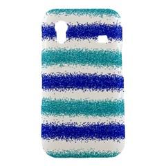 Metallic Blue Glitter Stripes Samsung Galaxy Ace S5830 Hardshell Case