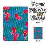 Carnations Playing Cards 54 Designs  Front - Heart2