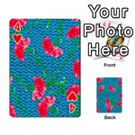 Carnations Playing Cards 54 Designs  Front - Heart4