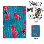Carnations Playing Cards 54 Designs  Front - Club4