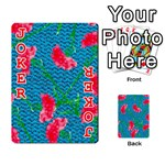 Carnations Playing Cards 54 Designs  Front - Joker2