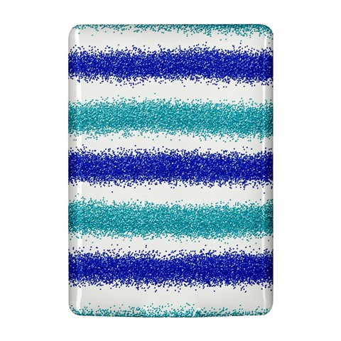Metallic Blue Glitter Stripes Kindle 4