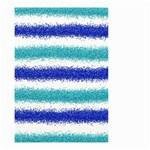 Metallic Blue Glitter Stripes Small Garden Flag (Two Sides) Back