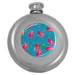 Carnations Round Hip Flask (5 oz) Front