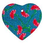Carnations Heart Ornament (2 Sides) Front