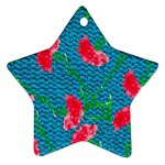 Carnations Star Ornament (Two Sides)  Back
