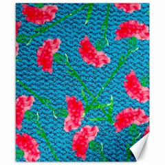 Carnations Canvas 8  X 10