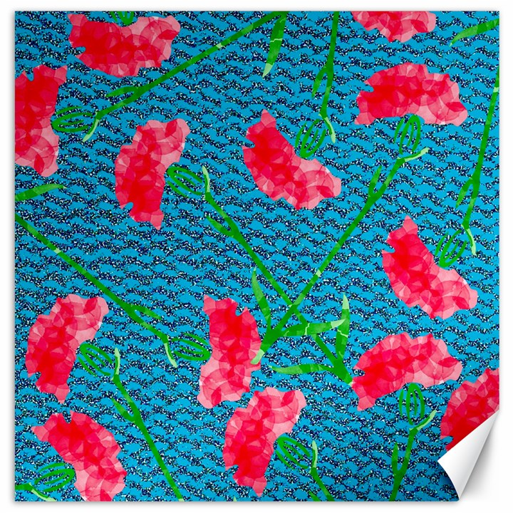 Carnations Canvas 12  x 12