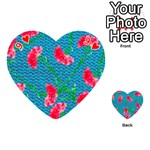 Carnations Playing Cards 54 (Heart)  Front - Heart9