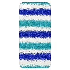 Metallic Blue Glitter Stripes Apple iPhone 5 Hardshell Case