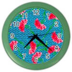 Carnations Color Wall Clocks Front