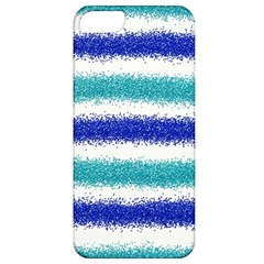 Metallic Blue Glitter Stripes Apple iPhone 5 Classic Hardshell Case