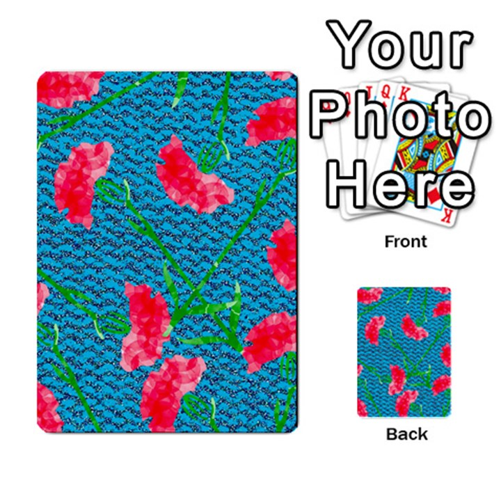 Carnations Multi-purpose Cards (Rectangle)
