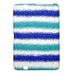 Metallic Blue Glitter Stripes Kindle Fire HD 8.9