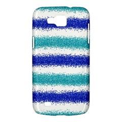 Metallic Blue Glitter Stripes Samsung Galaxy Premier I9260 Hardshell Case