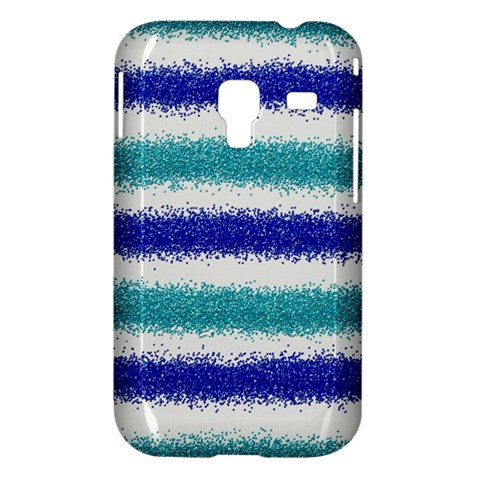 Metallic Blue Glitter Stripes Samsung Galaxy Ace Plus S7500 Hardshell Case
