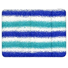 Metallic Blue Glitter Stripes Samsung Galaxy Tab 7  P1000 Flip Case