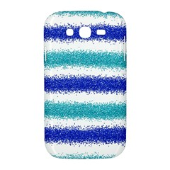 Metallic Blue Glitter Stripes Samsung Galaxy Grand DUOS I9082 Hardshell Case