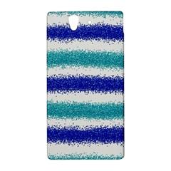Metallic Blue Glitter Stripes Sony Xperia Z