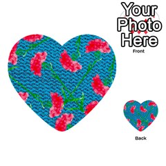 Carnations Multi Purpose Cards (heart)