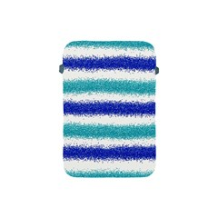 Metallic Blue Glitter Stripes Apple iPad Mini Protective Soft Cases