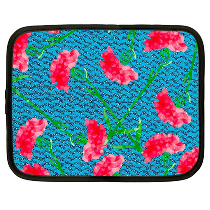 Carnations Netbook Case (Large)