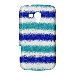 Metallic Blue Glitter Stripes Samsung Galaxy Duos I8262 Hardshell Case