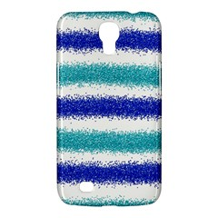 Metallic Blue Glitter Stripes Samsung Galaxy Mega 6.3  I9200 Hardshell Case