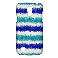 Metallic Blue Glitter Stripes Galaxy S4 Mini