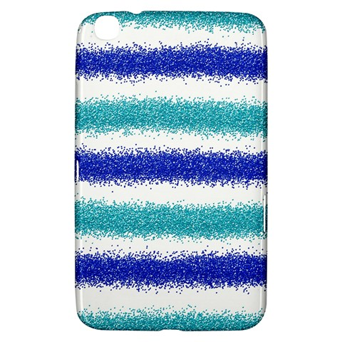 Metallic Blue Glitter Stripes Samsung Galaxy Tab 3 (8 ) T3100 Hardshell Case