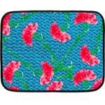 Carnations Double Sided Fleece Blanket (Mini)  35 x27 Blanket Front