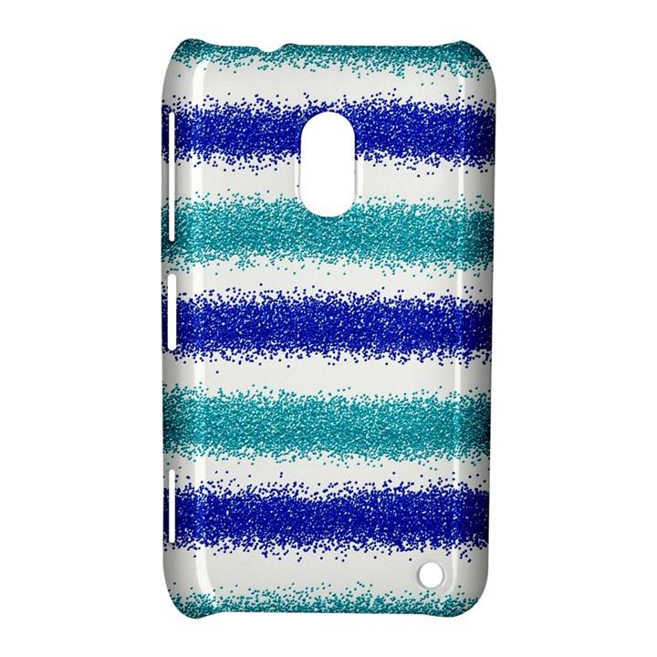 Metallic Blue Glitter Stripes Nokia Lumia 620