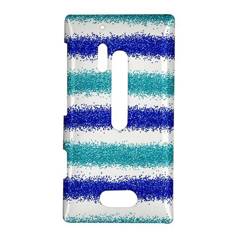 Metallic Blue Glitter Stripes Nokia Lumia 928