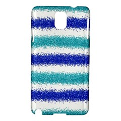Metallic Blue Glitter Stripes Samsung Galaxy Note 3 N9005 Hardshell Case